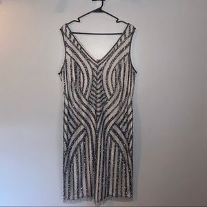 Adrianna Papell Beaded and Sequin Dress NWOT